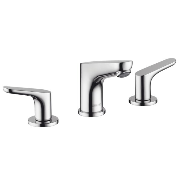 Focus E Widespread Bathroom Faucet with Drain Assembly by Hansgrohe
