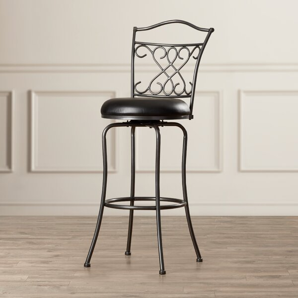 Apatow 30 Swivel Bar Stool by Fleur De Lis Living