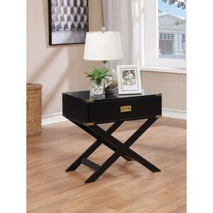 Whitfield Contemporary 1 Drawer End Table by Breakwater Bay