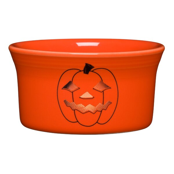 Round Ramekin Spooky Glowing Pumpkin by Fiesta