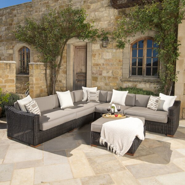 Monroeville 6 piece Sunbrella Sectional Set with Cushions by Darby Home Co