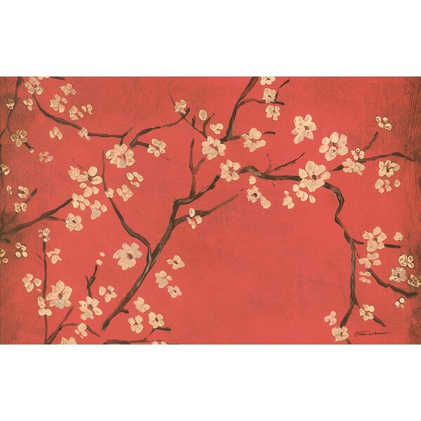 Golden Cherry Blossom Red Area Rug by Manual Woodworkers & Weavers