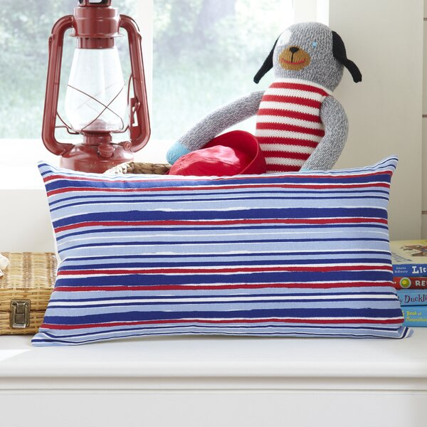 Beach Stripe Lumbar Pillow Cover by Birch Lane Kids™