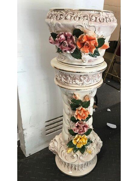 Shae Queen Anne Ceramic Pedestal Floor Vase by Astoria Grand