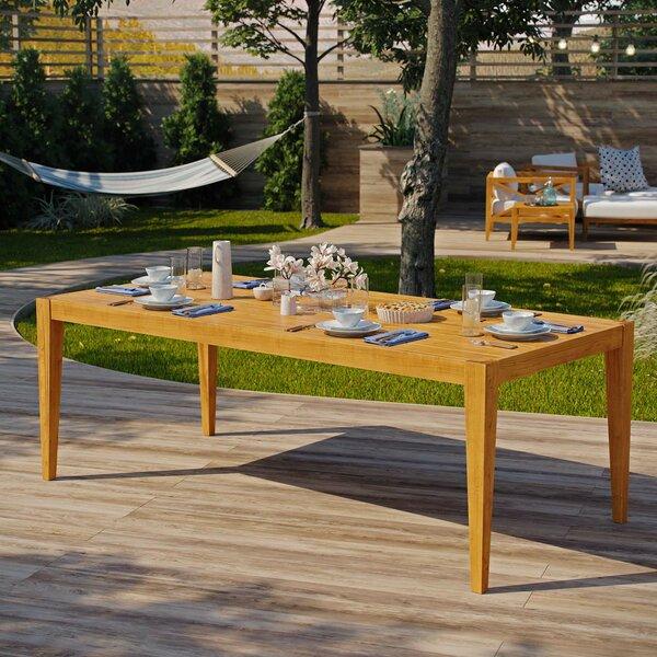 Dowell Teak Dining Table by Breakwater Bay