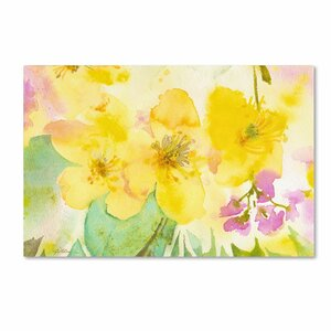 Yellow Trio by Sheila Golden Painting Print on Wrapped Canvas by Trademark Fine Art