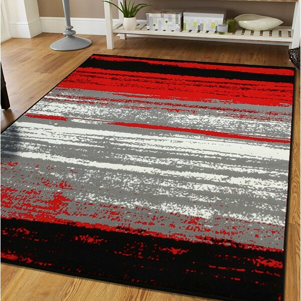 Mckeehan Red/Gray Indoor/Outdoor Area Rug by Williston Forge