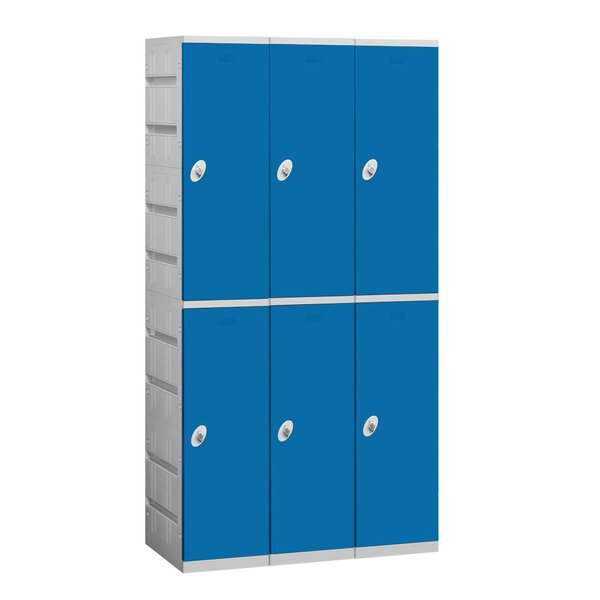 2 Tier 3 Wide School Locker by Salsbury Industries