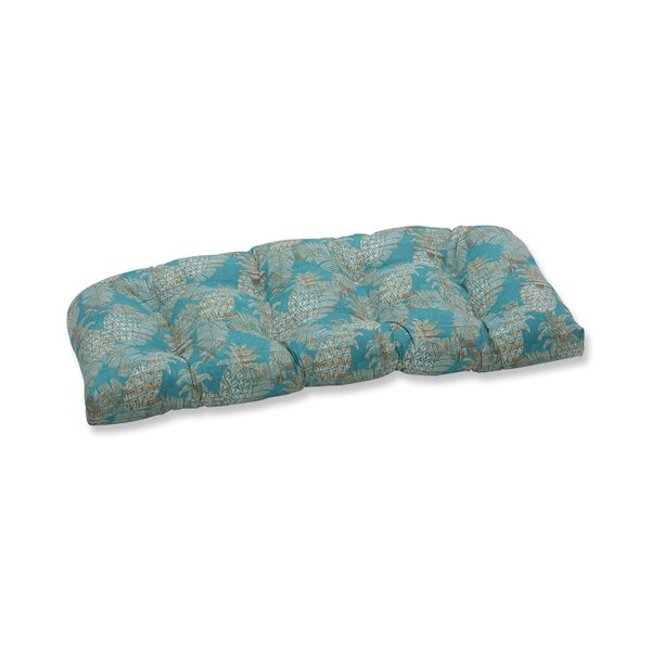 Emeline Batik Wicker Indoor/Outdoor Loveseat/Sofa Cushion By Bay Isle Home