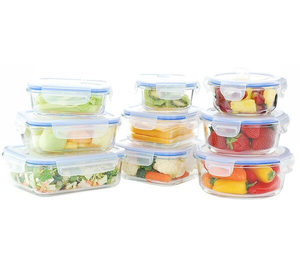 Kinetic Go Green Glass Lock Elements Oven Safe 9 Container Food Storage Set  U0026 Reviews | Wayfair