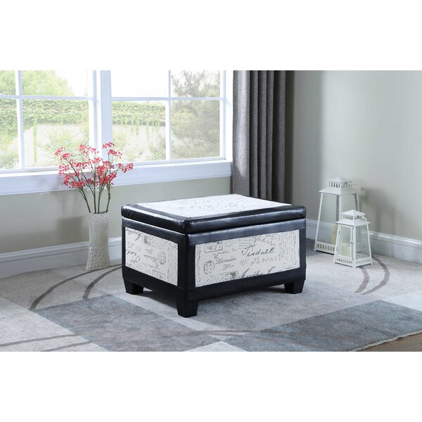 Review Quaniece Wood Storage Ottoman