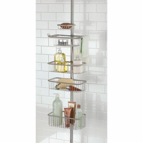 Eisele Ultra Constant Tension Bathroom Shower Caddy by Rebrilliant