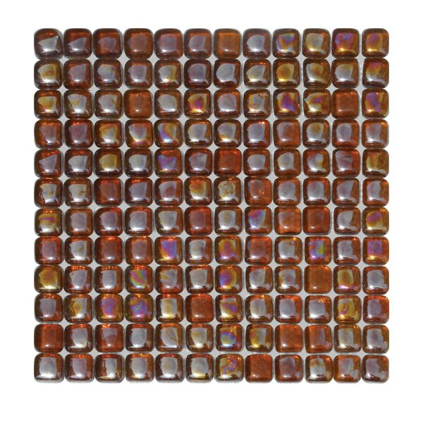 Glass Mosaic Tile in Brown by QDI Surfaces