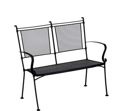 Bradford Wrought Iron Garden Bench by Woodard