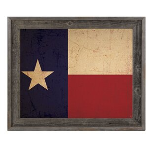 'Texas Flag Vintage' Framed Graphic Art by Click Wall Art
