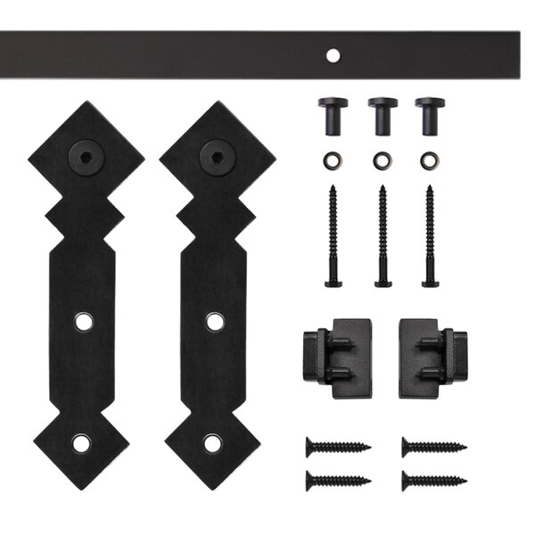 Double Diamond Miniature Rolling Barn Door Hardware by Quiet Glide