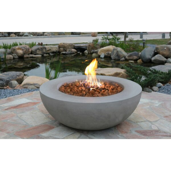 Lunar Bowl Concrete Fire Pit by Homestyle Collection
