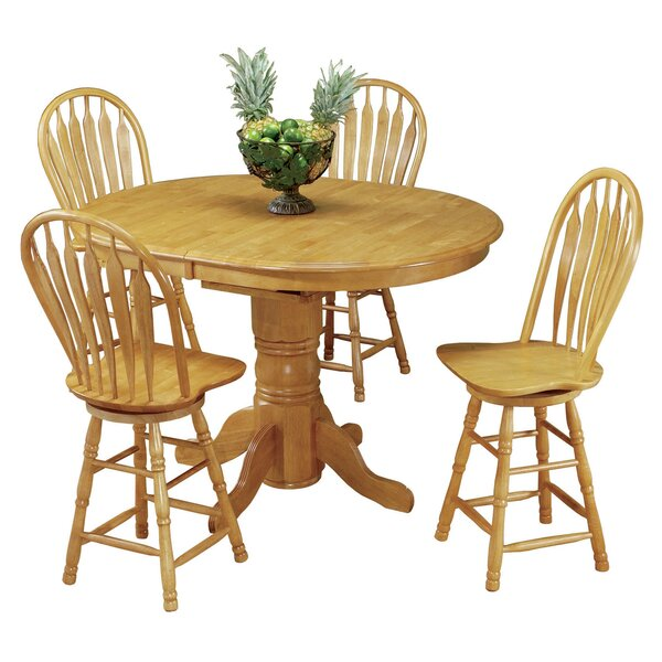 Lockwood 5 Piece Pub Table Set by Loon Peak