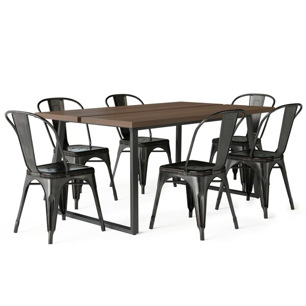 Stutz III 7 Piece Solid Wood Dining Set By Williston Forge