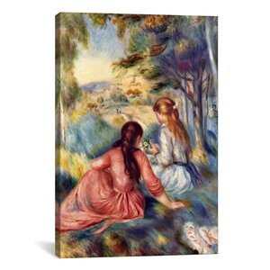 'In the Meadow' by Pierre-Auguste Renoir Painting Print on Canvas by iCanvas