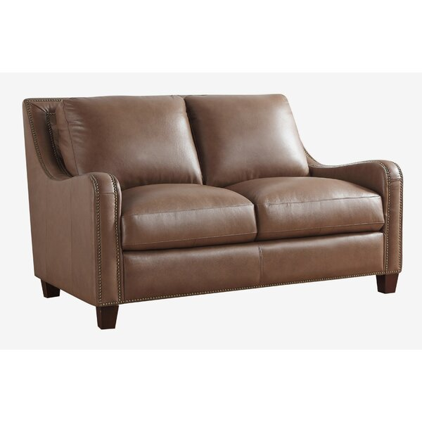 Davon Leather Loveseat by 17 Stories 17 Stories