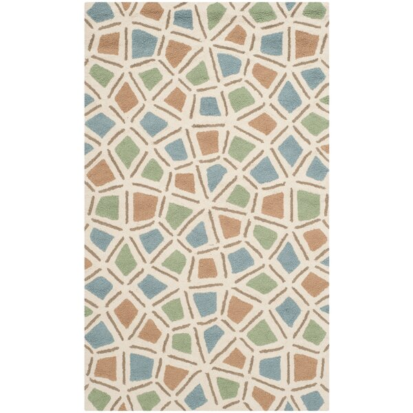 Atilia Blue/Green Geometric Area Rug by Highland Dunes