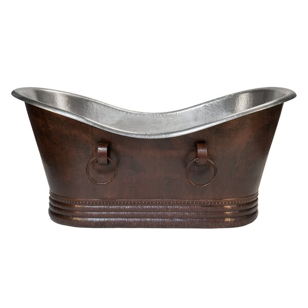 Double 67 x 32 Slipper Bathtub by Premier Copper Products