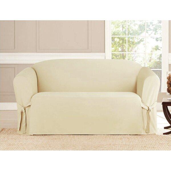 Box Cushion Loveseat Slipcover by Alcott Hill