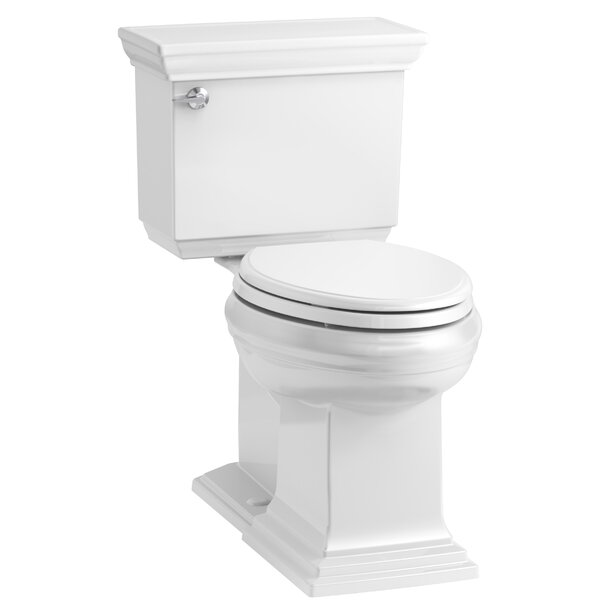 Memoirs Stately Comfort Height 2-Piece Elongated 1.28 GPF Toilet with Aquapiston Flush Technology and Left-Hand Trip Lever, Concealed Trapway by Kohler