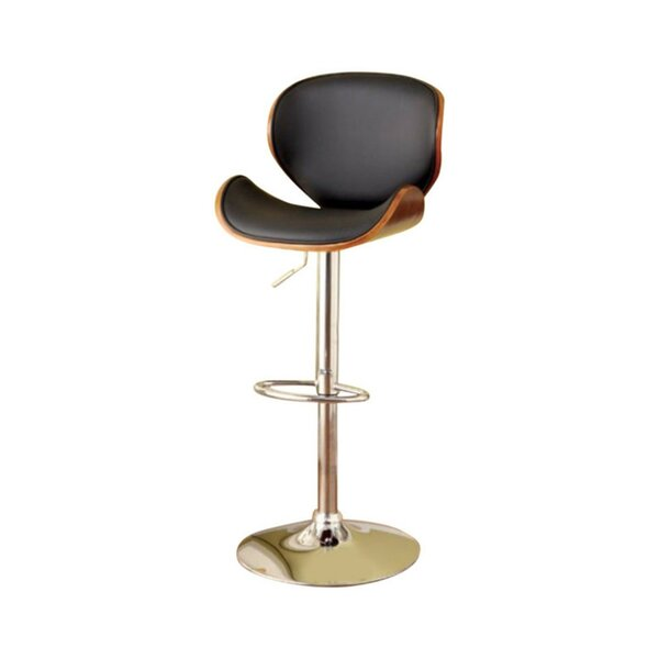 Milliner Contemporary Adjustable Height Swivel Bar Stool by Orren Ellis