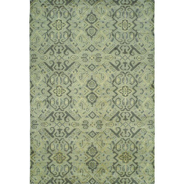 Hand-Woven Green Area Rug by Wildon Home ®
