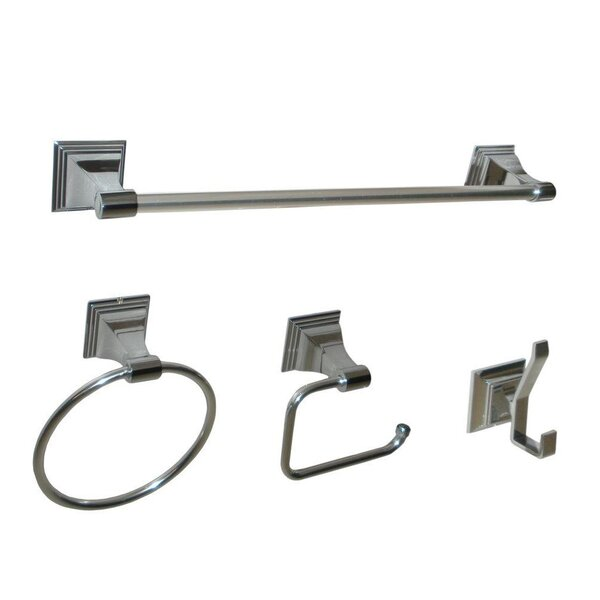 Leonard 4 Piece Wall Mounted Bathroom Hardware Set by ARISTA