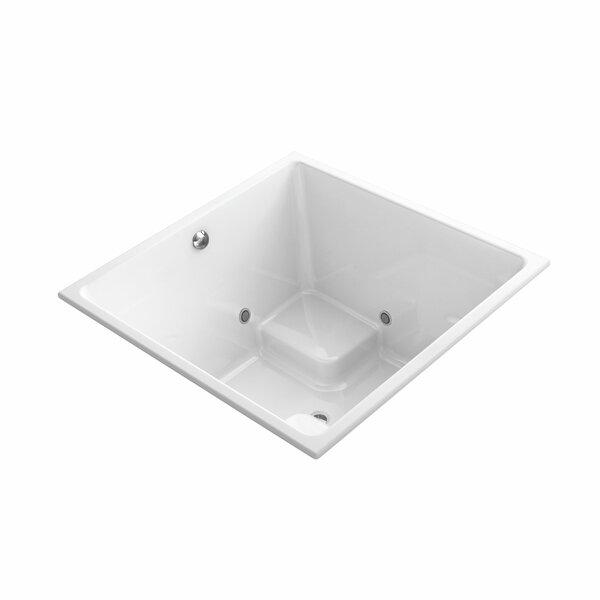 Underscore 48 x 48 Drop-In VibrAcoustic Bathtub with Bask Heated Surface and Chromatherapy by Kohler