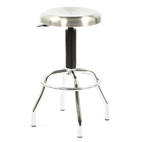 Glaucia Adjustable Height Swivel Bar Stool by 17 Stories