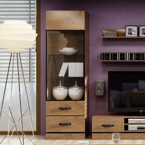Holly Rustic Oak Standard Display Cabinet by Brayden Studio