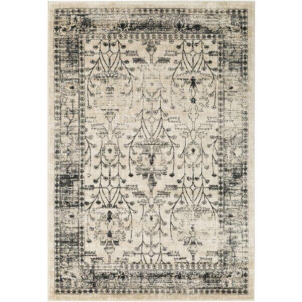 Ipasha Black/Medium Gray Area Rug by Trent Austin Design