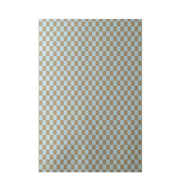 Geometric Beige Indoor/Outdoor Area Rug by e by design