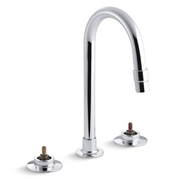 Triton Widespread Commercial Widespread Faucet Lever Bathroom Sink Faucet By Kohler