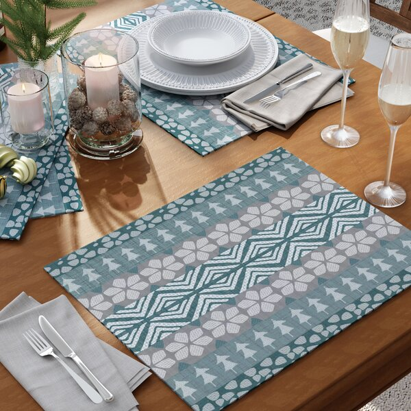 Fair Isle Placemat (Set of 4) by The Holiday Aisle