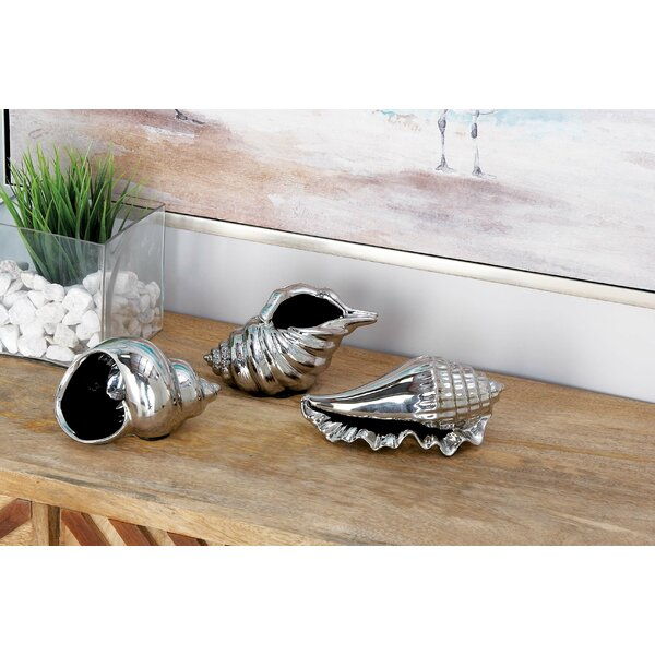 3 Piece Decorative Ceramic Shell Set by Cole & Grey