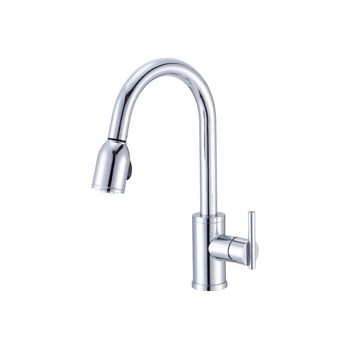 Danze Parma Pull Down Single Handle Kitchen Faucet & Reviews ...