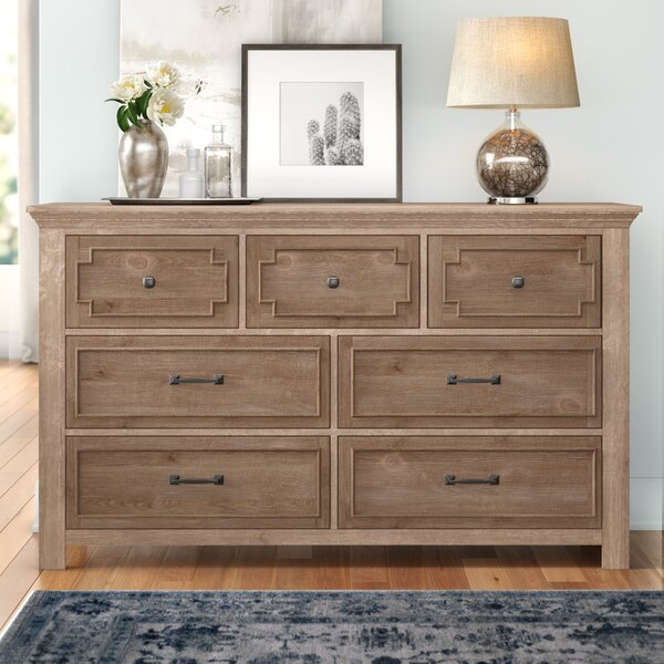 Tyne 7 Drawer Double Dresser by Three Posts