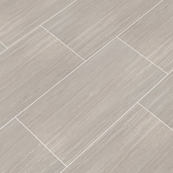 Pietra Orion 16 x 32 Porcelain Field Tile in Gray by MSI