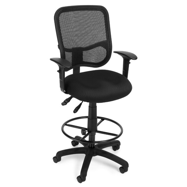 Ergonomic Mid-Back Mesh Drafting Chair by OFM