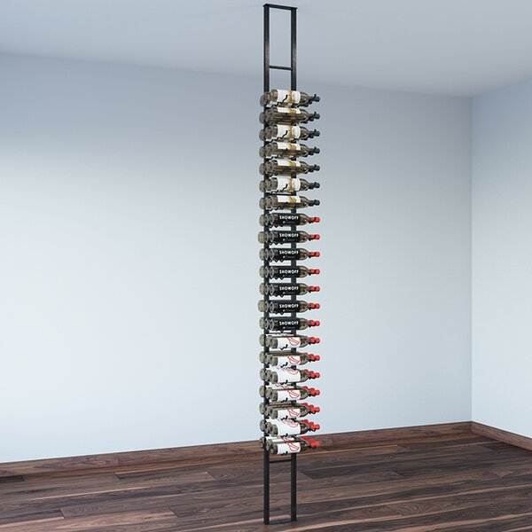 Floating 63 Bottle Wall Mounted Wine Bottle Rack by VintageView
