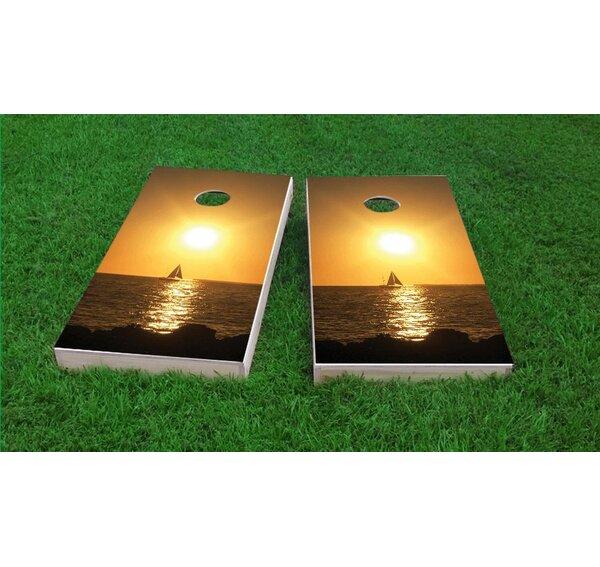 Florida Keys Sunset Cornhole Game Set by Custom Cornhole Boards