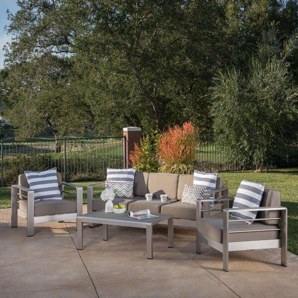 Royalston 4 Piece Sofa Seating Group with Cushions by Brayden Studio Brayden Studio