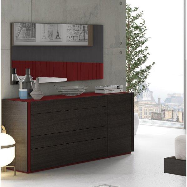 Elida 4 Drawer Dresser with Mirror by Orren Ellis