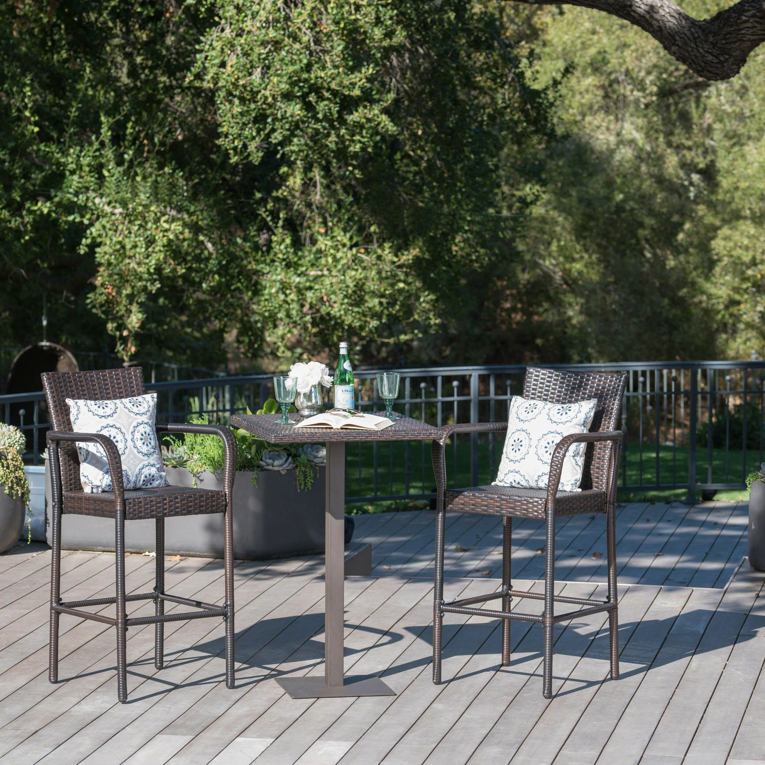 Strange Orren Ellis Eaton 3 Piece Bar Height Dining Set Reviews Uwap Interior Chair Design Uwaporg