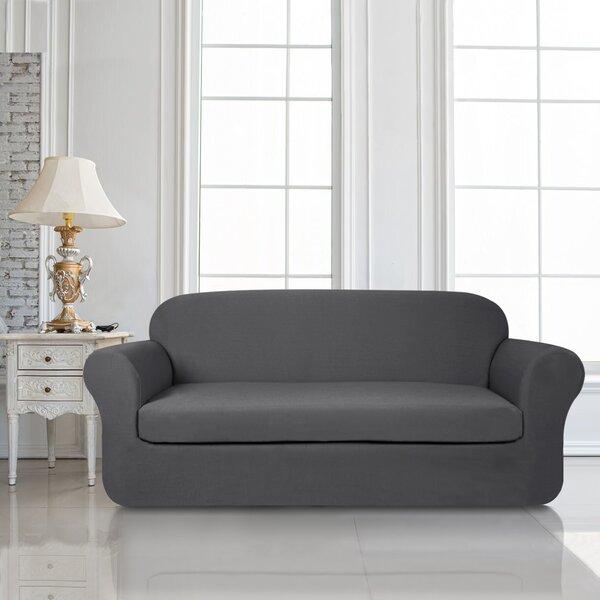 2 Piece Knit Jacquard Box Cushion Sofa Slipcover Set by Winston Porter